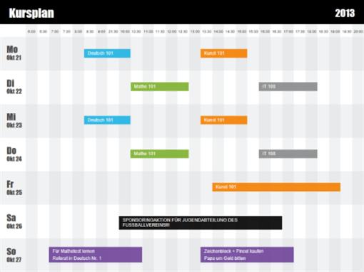 MS Office kaufen - Vorlagen und Designs - Kategorie Zeitpläne
