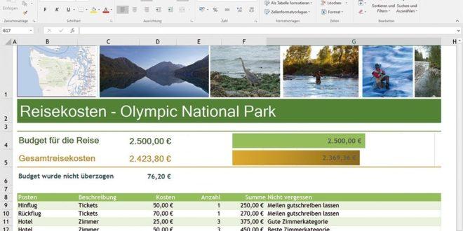 Screenshot Microsoft Excel 2016