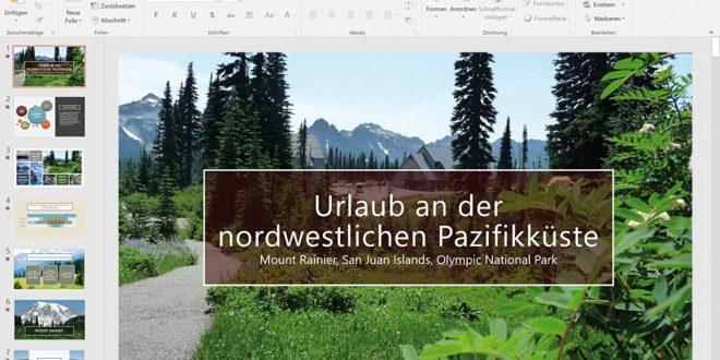 Screenshot Microsoft PowerPoint 2016