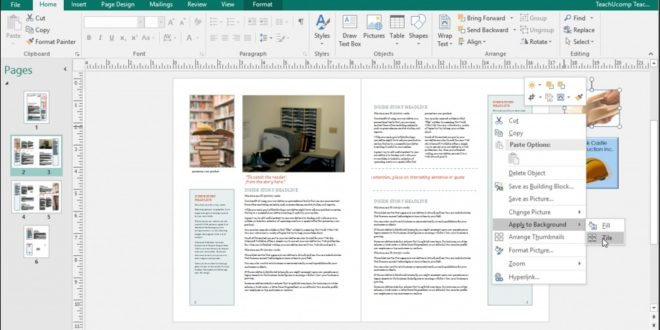Screenshot Microsoft Publisher 2016